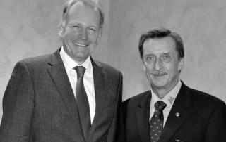 Dr. Oelck (li) und Erwin Kostyra (re)